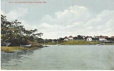 Early 1900's Cape Porpoise Cove & Cottages Dories Le Fletcher Made in Germany