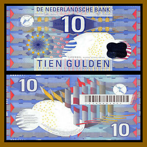 Netherlands 10 Gulden, 1997 P-99 Banknote About Uncirculated Plus (AU+)