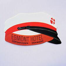 """Bellboy Hat Egmont Hotel Copenhagen Denmark Retro 2""""x3"""" Luggage Label Sticker"""