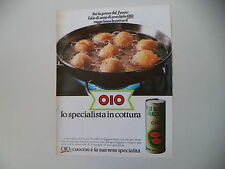 advertising Pubblicità 1981 OLIO DI SEMI OIO