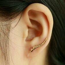 #1113 2016 18K gold plated earrings beautiful leaf modern Feather Stud earrings