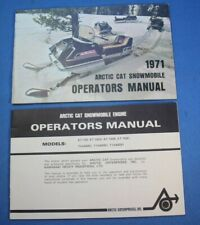 Arctic Cat 1971 Snowmobile & Engine Operators Manual Lynx Puma Panther Ext