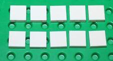 Lego 10x White Tile 1x1 NEW!!!