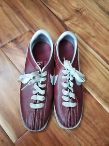 Nike Bowling Shoes 9 vintage maroon silver 1984 women's