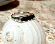 Art Deco style Onyx Sterling Silver Ring