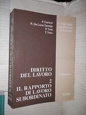 DIRITTO DEL LAVORO Vol 2 Carinci Tosi De Luca Treu Utet 1995 libro giuridica di