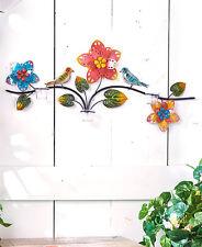 Colored Spring Floral Birds Branches Candle Holder Botanical Birds Candleholder