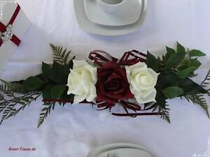 Tischgesteck, Brauttisch, Tischdeko, sehr edel! Braut, Hochzeit, Silberhochzeit