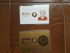 RARE VINTAGE LOT 8K Solid Gold COIN :N. 2 Miniature Gold coins - Dictators !!!