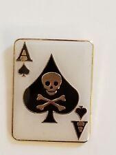 Ace of Spades Skull Crossbones Lapel Hat Cap Pin Tie Tac FAST USA SHIPPING