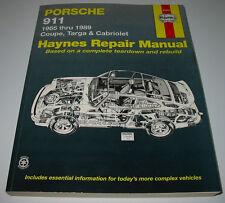 Repair Manual Porsche 911 Carrera G-Modell  Coupe Targa Cabrio 1965 - 1989!