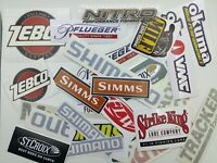 Fishing Stickers LOT of (26) Fishing Brand Decals  inspired by the names