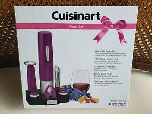 Cuisinart Wine Set Opener Aerator Sealer Cutter Stand NWB