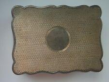 "JB LW Sterling (lion) English  antique case/ box 2 1/2"" X 1 3/4"". Hinged"