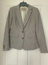 Banana Republic Hacking Wool Blend Grey Jacket Blazer Size: 0