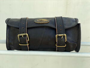 Motorcycle Front Back Fork Tool Bag SaddleBag Pouch Luggage Handlebar Leather