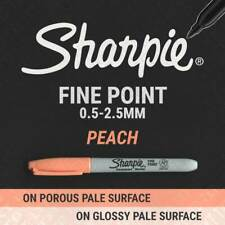 1, 3, 6, 12 or 24 PEACH Sharpie Fine Point Permanent Markers