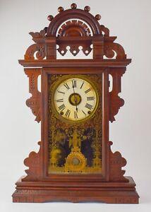 NICE Antique Seth Thomas Eclipse Ball Top Mantle Clock - JL3
