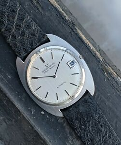 Universal Geneve White Shadow Date Automatic Polerouter Ultra-Slim RARE 'Turtle'