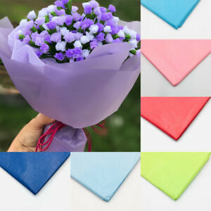 10Sheets Tissue Paper Flower Packing Gifts Wrapping Craft Paper Decor Supplies