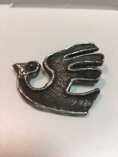 Antq 925 Sterling Silver Large Tribal Bird Pin Brooch