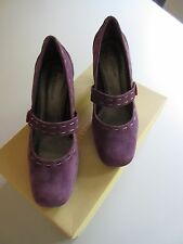 "NATURALIZER Mary Jane Dress Pumps Sassy-Purple Suede  6½ M  Heel 2"" ½ Worn once"