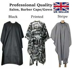 Professional Hairdressing Gown Cape Shave Apron Hair Cutting Salon Barber UK