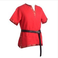 Medieval Renaissance Cosplay Costume Tunic Shirt Nobleman Knight Pirate Belt Top