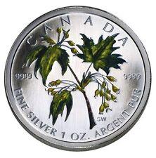 2003 Coloured .999 Fine Silver Maple Leaf in Case & COA
