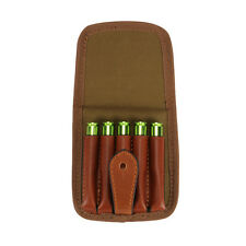 Tourbon Rifle Cartridge Pouch Ammo Holder 5 Bullet Canvas Quick Access Belt Loop