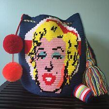 Special Edition Marilyn Monroe Handmade Authentic Wayuu Bag Mochila