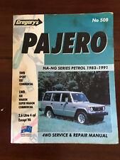 GREGORYS Pajero 4WD service & repair manual no 508 1983-1991