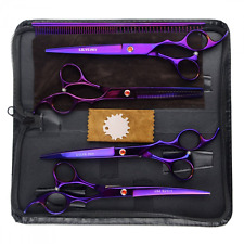 Pet Dog Grooming Scissors Set Curved Thinning Shears Professional Hair Cutting