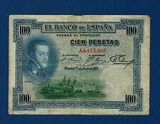 100 PESETAS 1925. SELLO EN SECO. BURGOS
