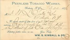 The Peerless Tobacco Works, Rochester, New York NY 1876