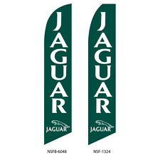 TWO  Jaguar 15 foot Swooper Feather Flag Sign