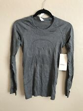 NWT Lululemon Size 6 Swiftly Tech LS Crew Long Sleeve Gray HBLK
