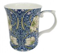 Fine Bone China William Morris Navy Blue Flower Coffee Tea Mug Cup 415cc Gift