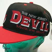 VTG New Jersey Devils Snapback Hat NHL NEW WITH TAGS #1 Apparel DEVIL MADE ME