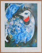 Marc Chagall Les Plumes en Fleurs  Vintage Original 1960 1st Print Ltd Ed Litho