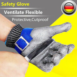 Edelstahl Stechschutzhandschuhe Kettenhandschuh Sicherheits-Handschuh Metzger L