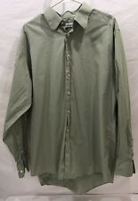 Men's Calvin Klein Green Cotton Long Sleeve Button Up Shirt 34/35 (17)