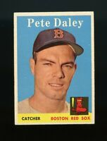 1958 Topps BB Card # 73 Pete Daley Boston Red Sox NM-MT OR BETTER
