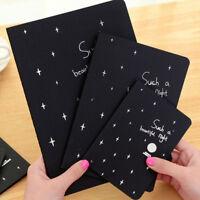 HK- Black Paper Graffiti Book Diary Sketch Drawing Notebook Stationary Gift Prec