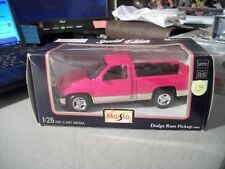 MAISTO 1:26 DIECAST DODGE RAM PICKUP 1995 RED SPECIAL EDITION IN BOX