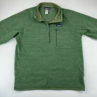 Patagonia Mens Large Better Sweater Fleece 1/4 Zip Pullover Jacket Green