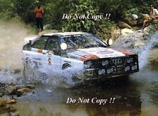 Hannu Mikkola Audi Quattro A1 Safaril Rally 1983 Photograph 1