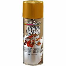 Duplicolor DE1604 Universal Gold Motor Engine Spray Paint Aerosol 12oz.