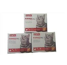 BEAPHAR FIPROTEC CAT FLEA SPOT ON FIPRONIL VET STRENGTH 1,3,6 TREATMENT SOLUTION