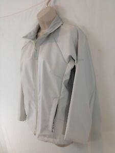 Columbia Womens M White Fleece Lined Zip Front Lightweight Jacket
